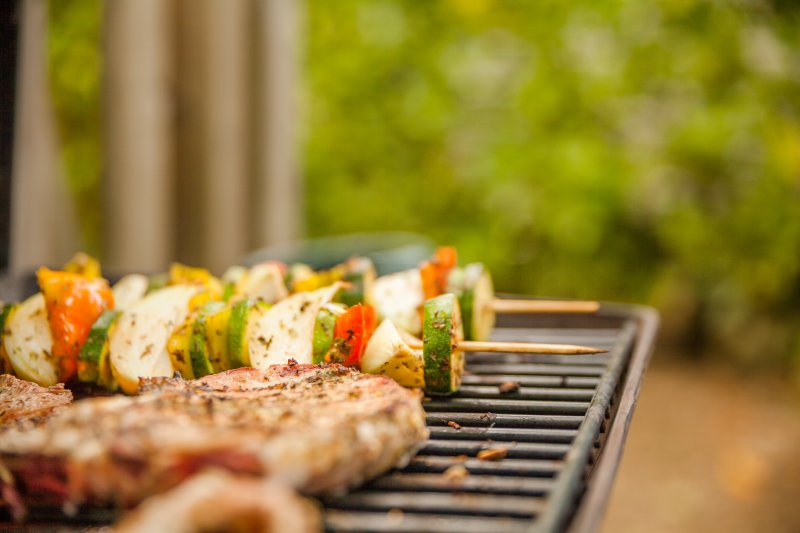 grilling food outdoors during summer